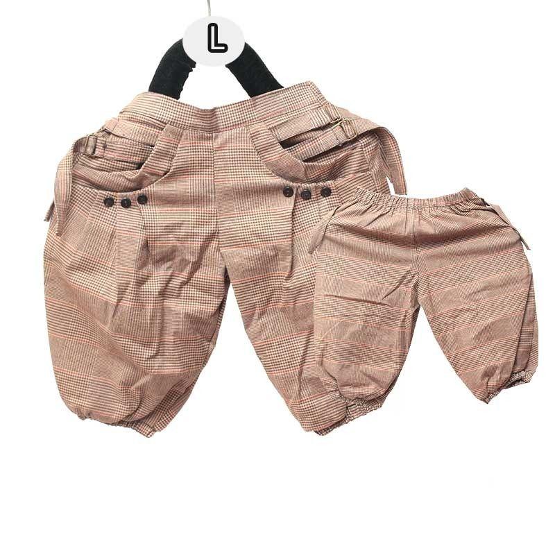 pantalones harén para niños - Algodón patrón / tartán