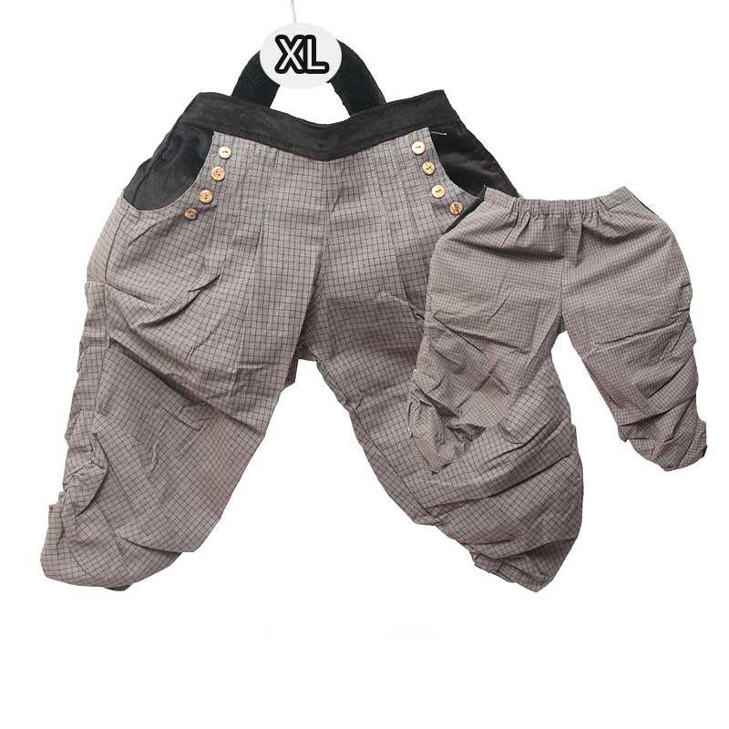 Harems pants for children - cotton / tartan pattern