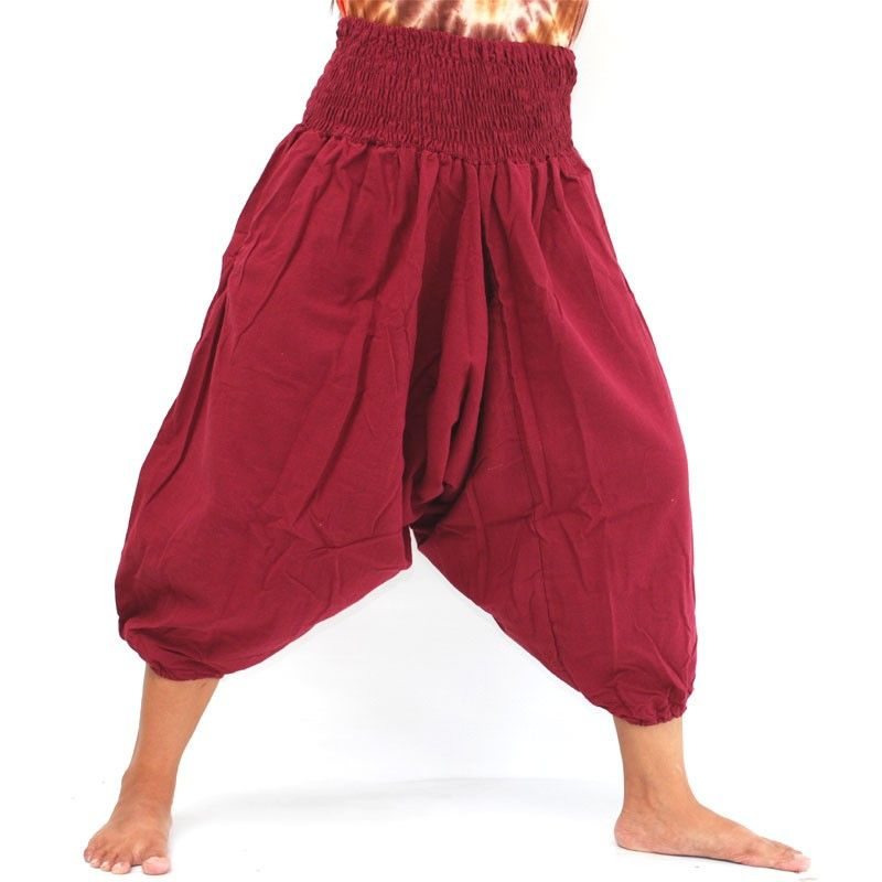 3/5 Aladdin Pants in cotton red
