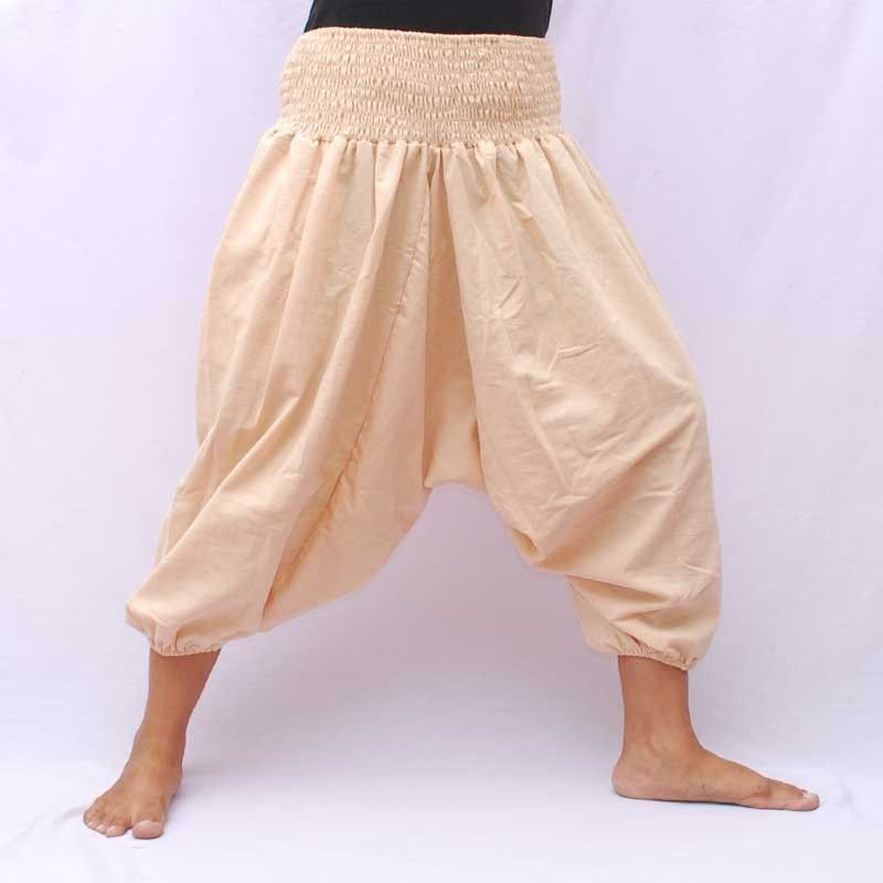3/5 Aladinhose aus Baumwolle creme