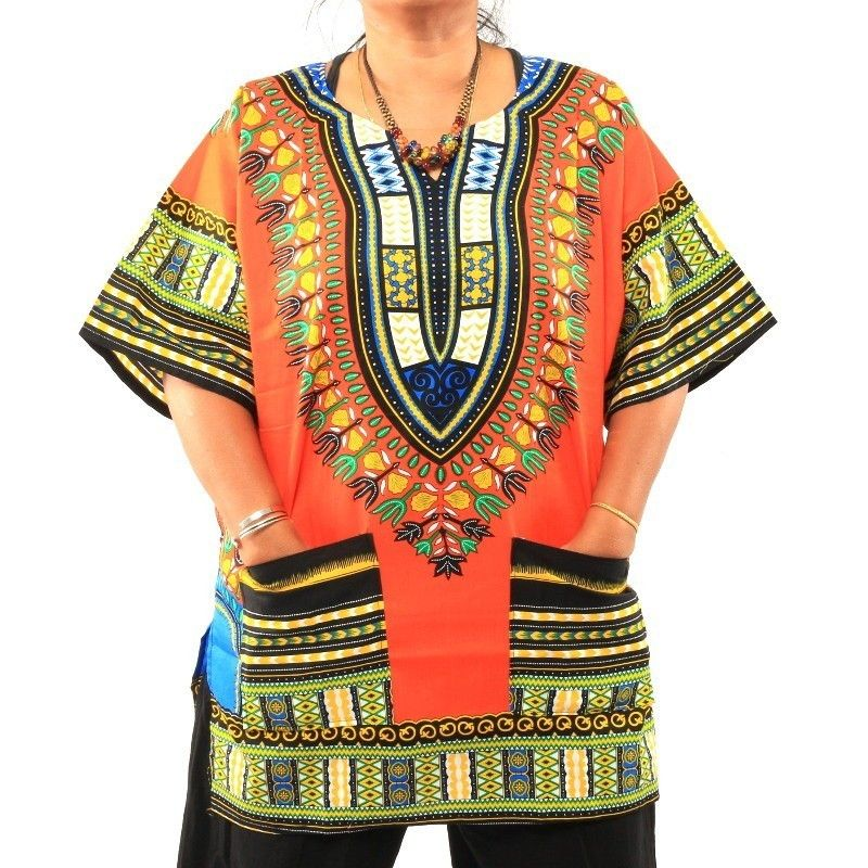 Tamaño de la camisa del dashiki L