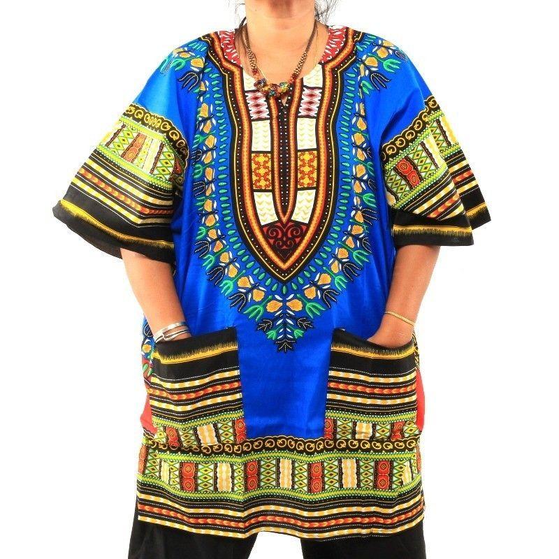 Dashiki imprimir camiseta talla XL