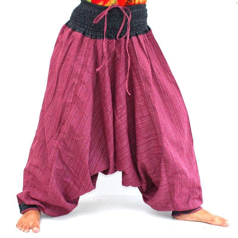 Aladdin Afghani afgano pantalones de algodón - rojo