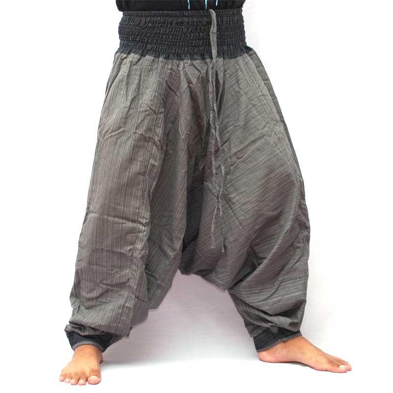 Baggy Pants Afghani Trousers Cotton - gray