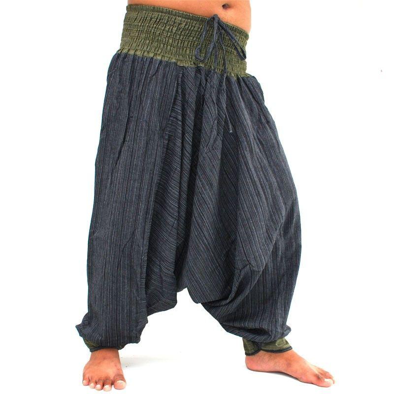 Aladdin dos tonos con un verde negro ancho en la cintura